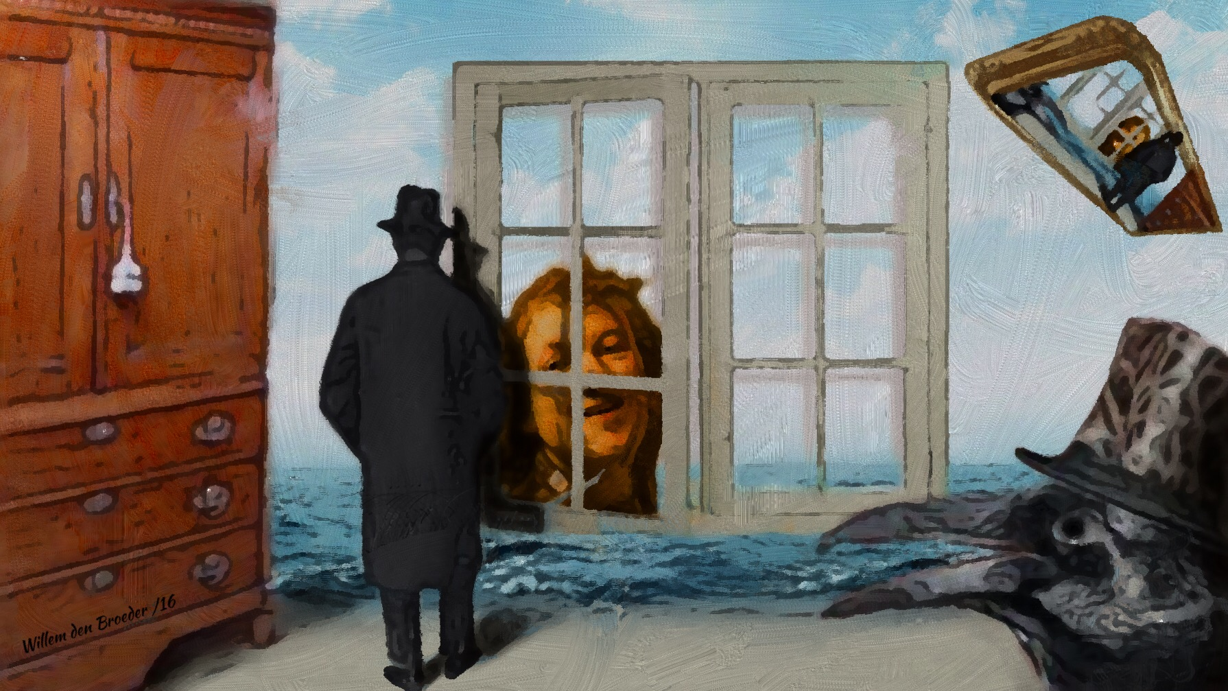 Aankoop le miroir vivant van ren magritte museum boijmans van beuningen surrealisme - Spiegel rivoli huis van de wereld ...