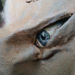 Surrealisme. De droom over Marcel Duchamp aan de achterzijde van een schilderij. Acryl op gevormd linnen