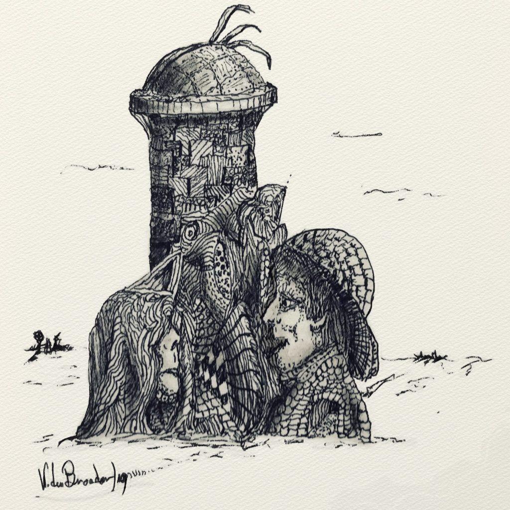 De ontmoeting bij het observatorium in Londen. Surrealisme